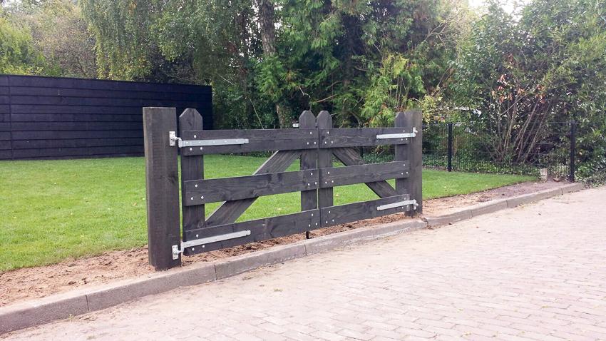 Bakker Hekwerk Houten hek poort